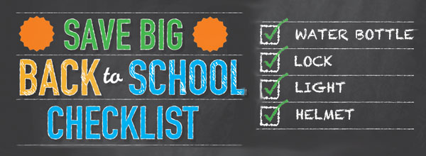 Back to school by bike checklist