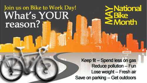 Join us for National Bike to Work Month