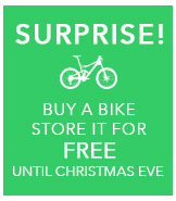 Store your bike for free until Christmas Eve