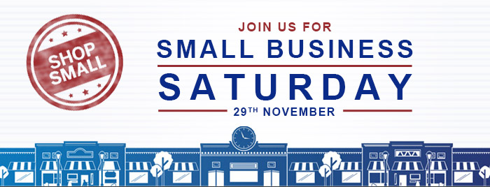 Shop Small Business Saturday November 29th